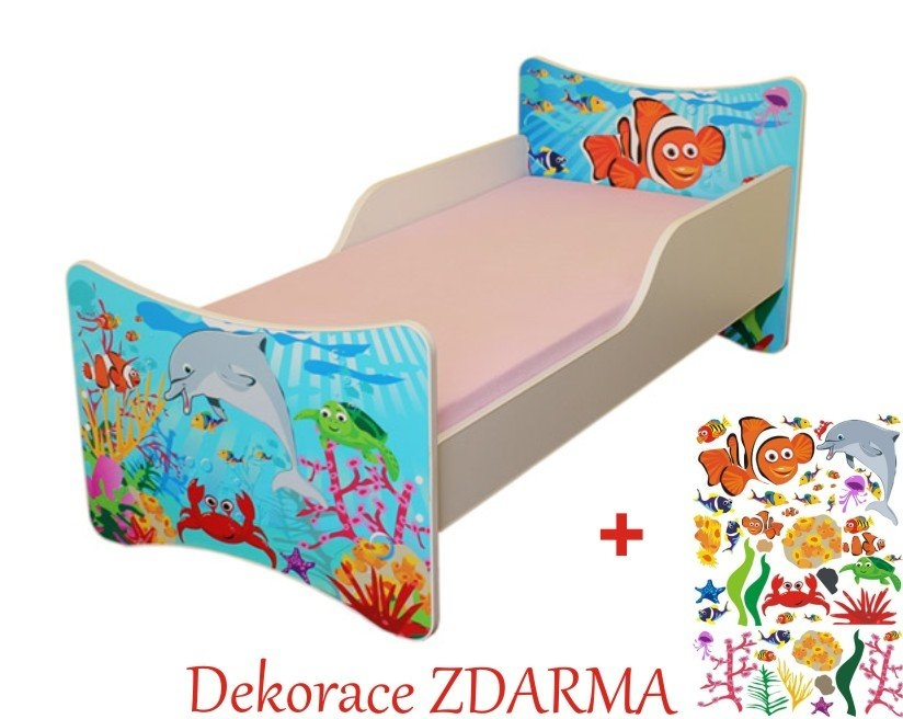 Spokojny Sen Dětská postel Oceán Varianta Úložný prostor pod postel 140x70cm, Počet bal. 1