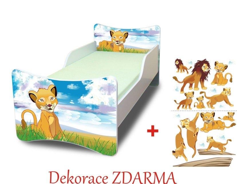 Spokojny Sen Dětská postel Lvíček Varianta Úložný prostor pod postel 140x70cm, Počet bal. 1
