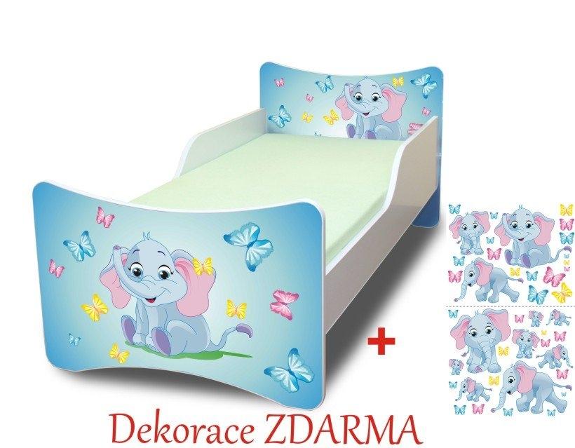 Spokojny Sen Dětská postel Sloník Varianta postel bez úložného prostoru 160x70cm, Počet bal. 2
