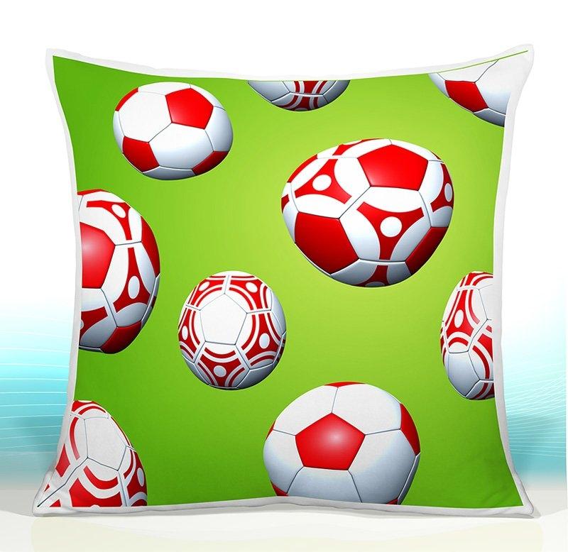 CamelLeon Dětský polštář - Fotbalové míče 42 Varianta Povlak na polštář 42, Počet bal. 1