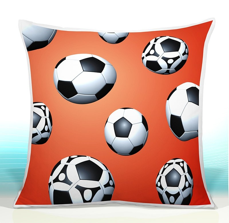 CamelLeon Dětský polštář - Fotbalové míče 43 Varianta Povlak, Počet bal. 1