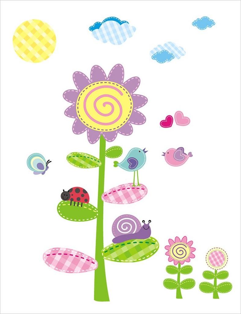 Mint Kitten Dekorace na zeď Happy Daisies - SEDMIKRÁSKA - 0,5 m