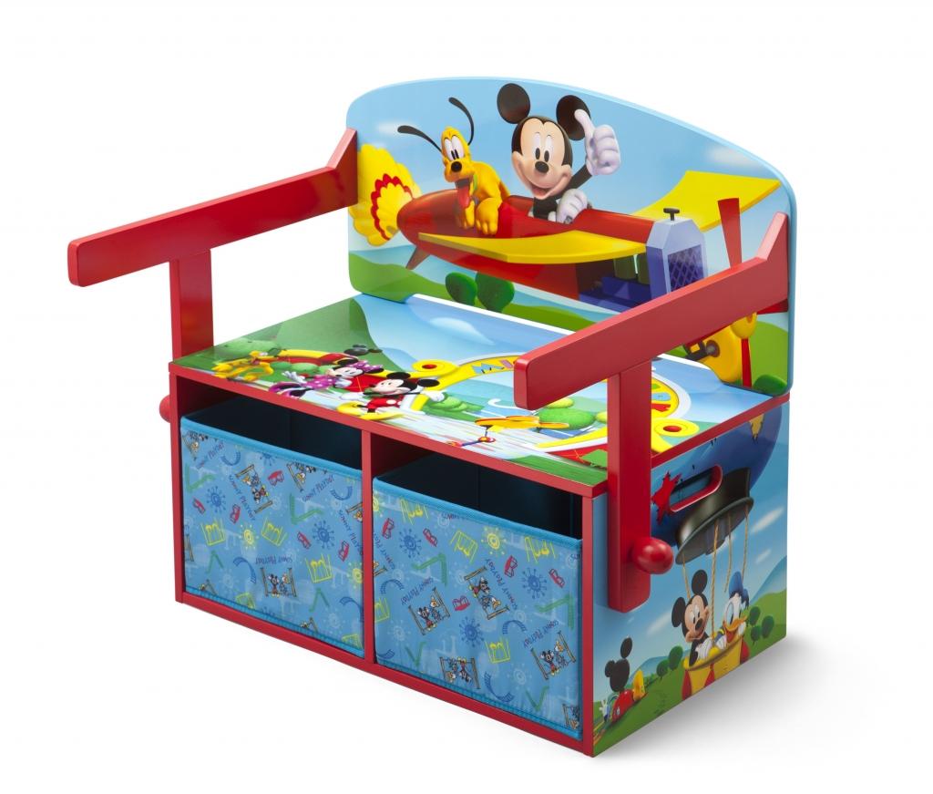 Delta Dětská lavice s úložným prostorem Myšák Mickey