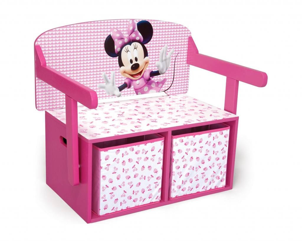 Delta Dětská lavice s úložným prostorem Myška Minnie