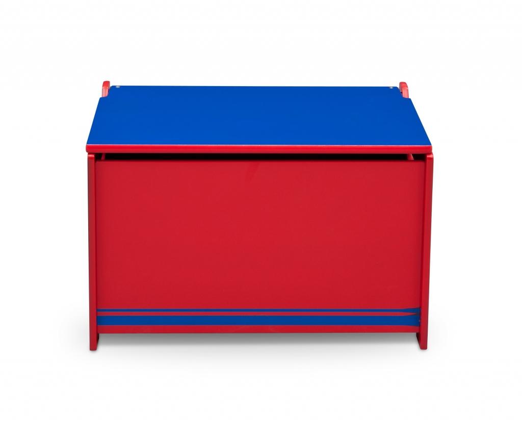 Delta Dřevěná truhla na hračky modro - červená