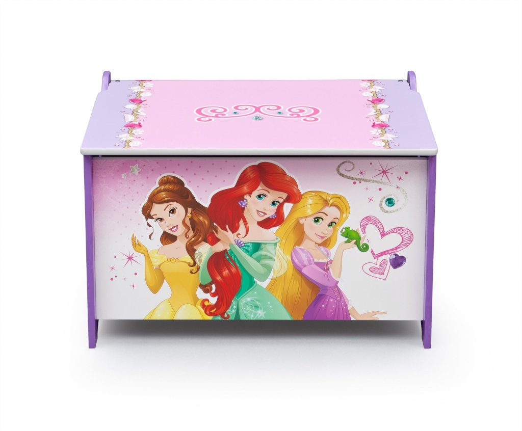 Delta Dřevěná truhla na hračky Princezny-Princess I