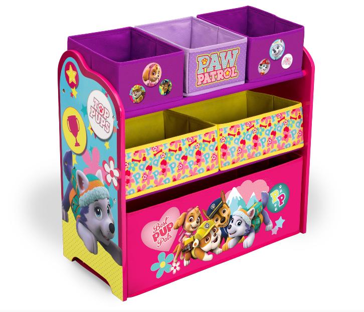 Delta Organizér na hračky Tlapková patrola Pink