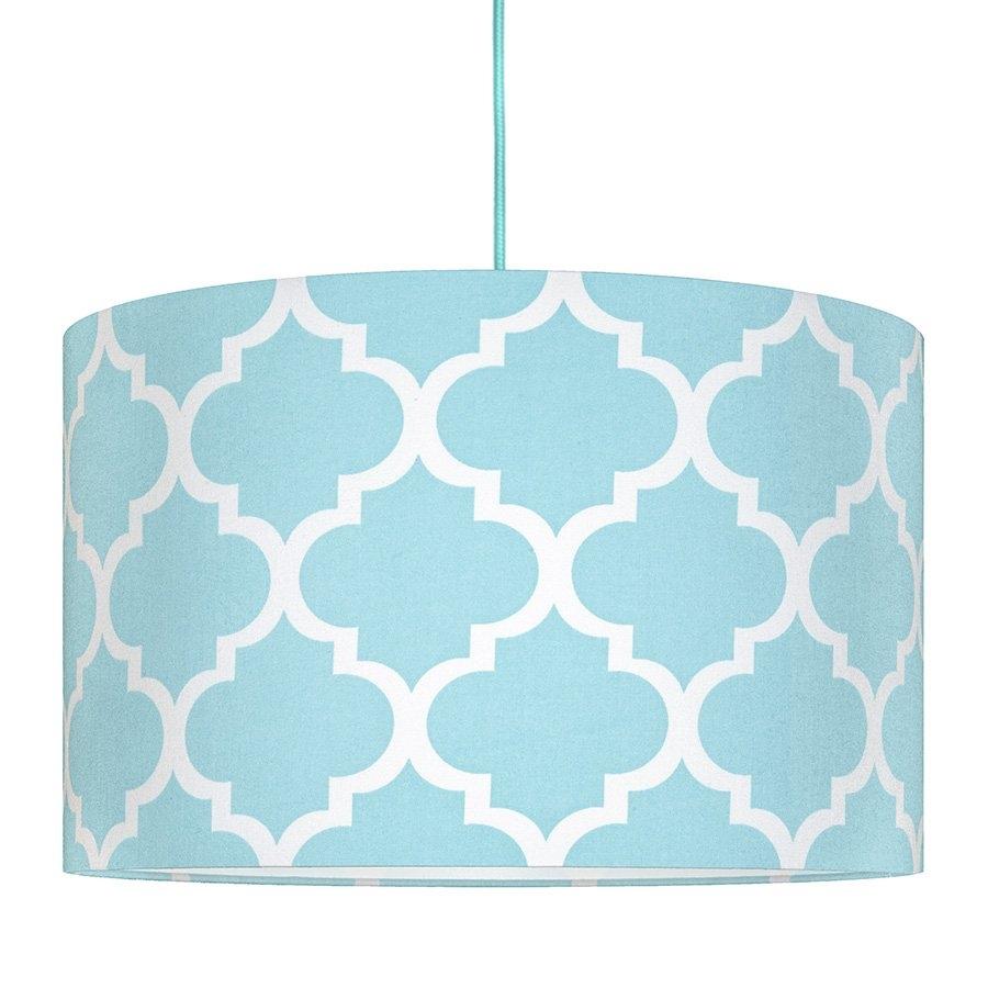 YoungDeco Textilní závěsná lampa Maroko - modrá