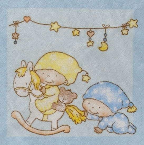 Kaarsgaren s.r.o. Flanelové povlečení do postýlky modré miminka