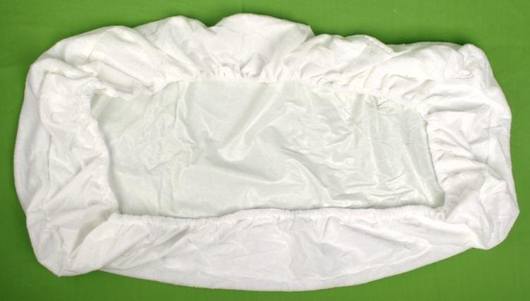 Kaarsgaren s.r.o. Nepropustné froté prostěradlo bílé 70 x 160 cm