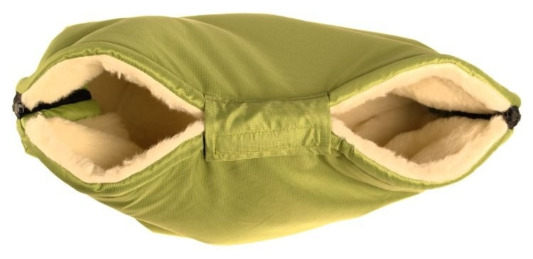 Kaarsgaren s.r.o. Merino rukávník zelený z ovčí vlny