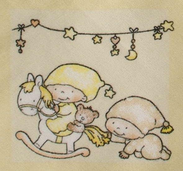 Kaarsgaren s.r.o. Flanelové povlečení do postýlky žluté miminka