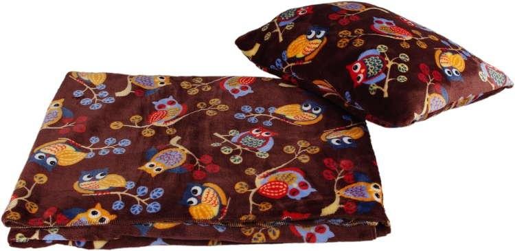 Kaarsgaren s.r.o. Velká deka s polštářem sovy