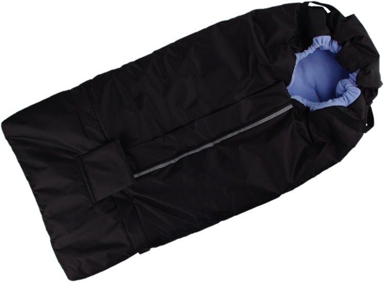 Kaarsgaren s.r.o. Fusak černo-světlemodrý s fleece podšívkou