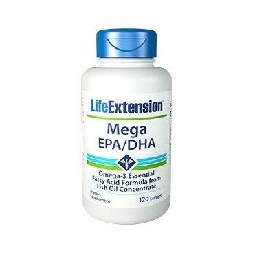 Lifeextension Mega EPA/DHA Omega 3 - doplněk stravy 120cps