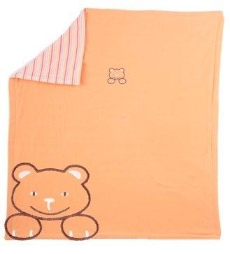 Kaarsgaren s.r.o. Deka do kočárku fleece bavlna oranžová s medvídkem