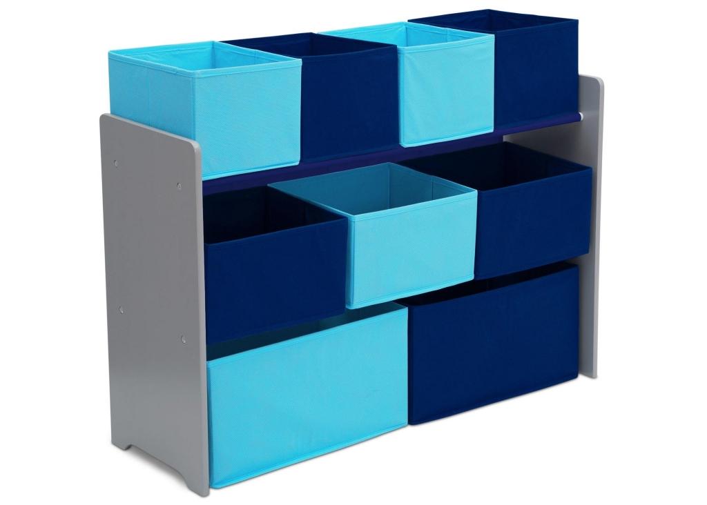 Delta Organizér na hračky šedo-modrý