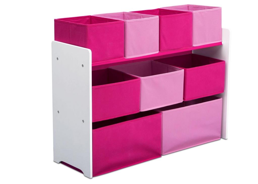 Delta Organizér na hračky růžovo-bílý
