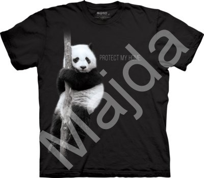 Tričko Panda Protect My Home Stop Extinction