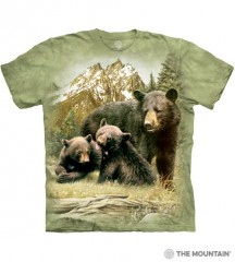 The Mountain Tričko Black Bear Family