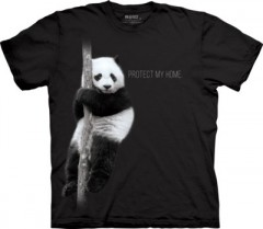 The Mountain Tričko Panda Protect My Home Stop Extinction
