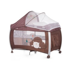 Chipolino CHIPOLINO Cestovní postýlka Play pen and crib Casida - brown bear